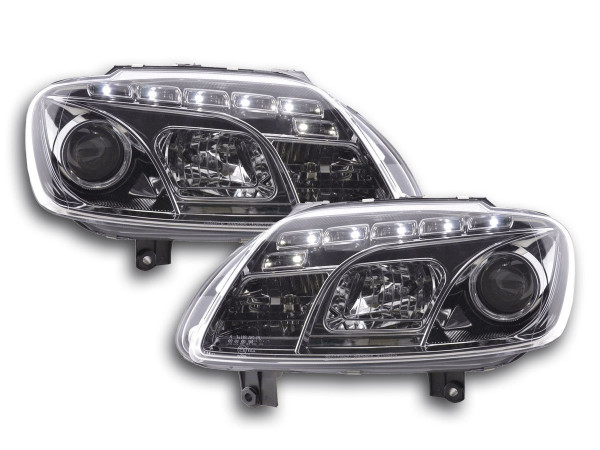 Daylight headlight VW Touran type 1T / VW Caddy type 2K chrome