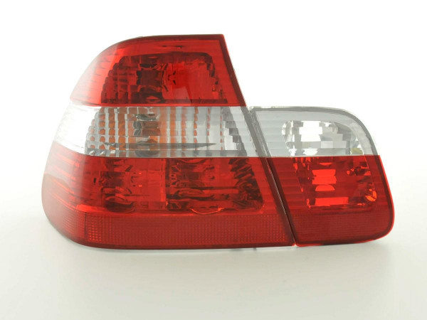 Taillights BMW serie 3 saloon type E46 Yr. 98-01 white red