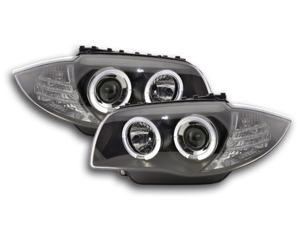 headlight BMW serie 1 type E87/E81 Yr. 04- black