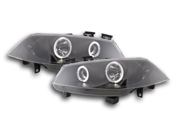 headlight Renault Megane 2 3/5-door. Yr. 03-06 black