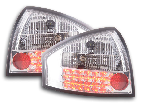 Led Taillights Audi A6 saloon type 4B Yr. 97-03 chrome