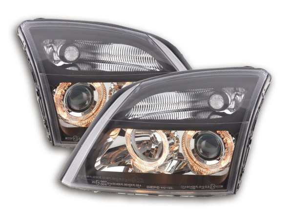 Angel Eye headlight Opel Vectra C Yr. 02-04 black