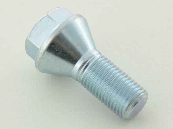 Wheel bolt, M14 x 1,5 25mm domed silver