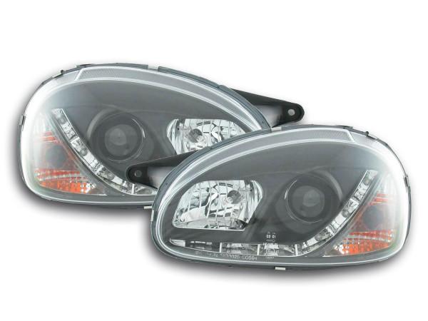 Daylight headlight Opel Corsa B Yr. 94-00 black