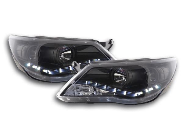 Daylight headlight VW Tiguan Yr. 07-11 black RHD