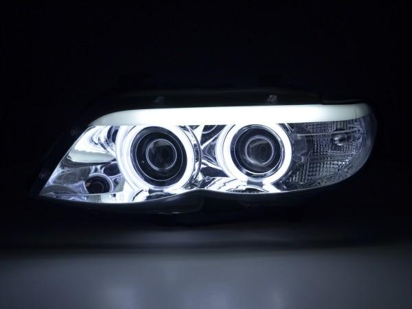 headlight Daylight CCFL Xenon BMW X5 E53 Yr. 03-06 chrome