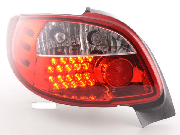Led Taillights Peugeot 206 CC Cabrio Yr. 98-05 clear/red