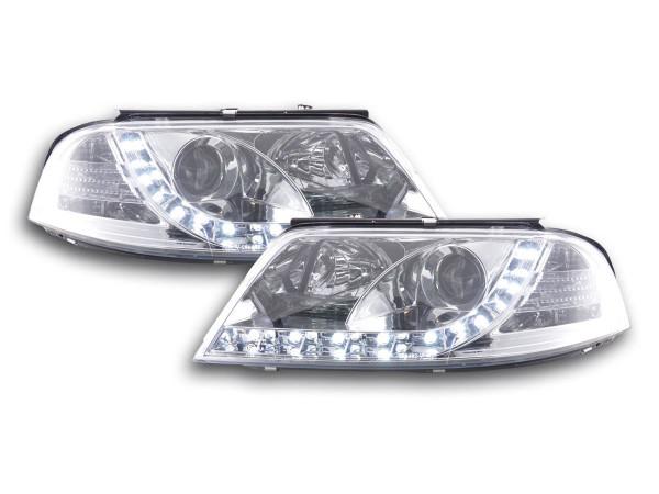 Daylight headlight VW Passat type 3BG Yr. 00-05 chrome RHD