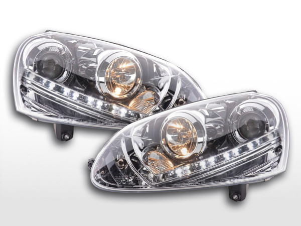 headlight Daylight VW Golf 5 type 1K Yr. 03-08 chrome
