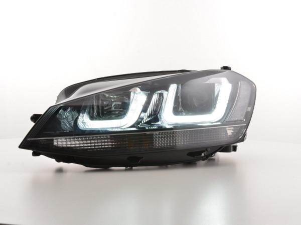 Daytime running lights headlight Daylight VW Golf 7 Yr. from 2012 black/chrome