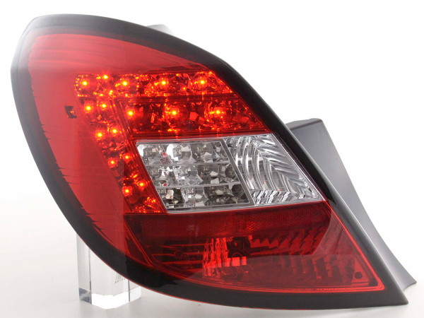 Led Taillights Opel Corsa D 5-dr Yr. 06-10 red/clear