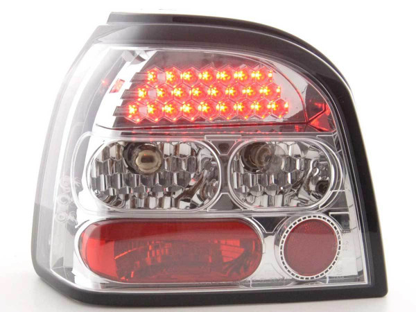 Led Taillights VW Golf 3 type 1HXO Yr. 92-97 chrome