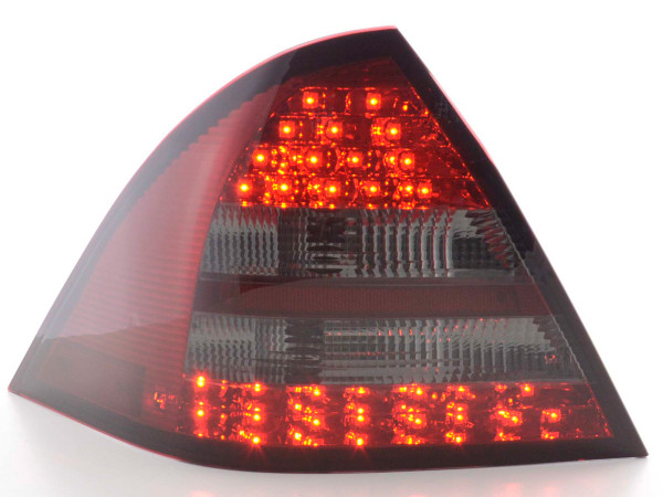Led Taillights Mercedes C-Class W203 saloon Yr. 05-07 red/black
