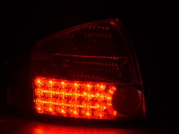 Led Taillights Audi A6 saloon type 4B Yr. 97-03 chrome