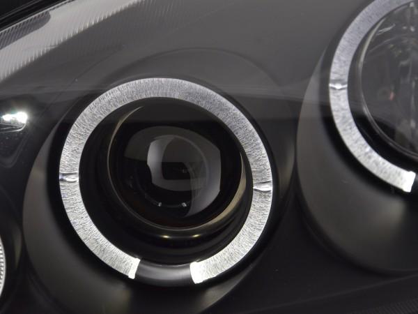 Angel Eyes headlights Opel Corsa C Yr. 01-06 black