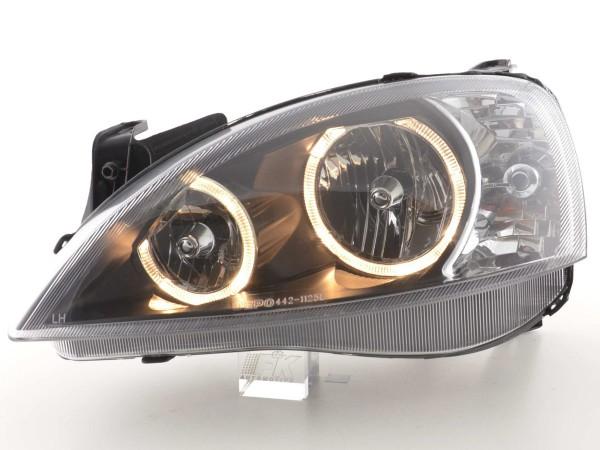 Angel Eye headlight Opel Corsa C black