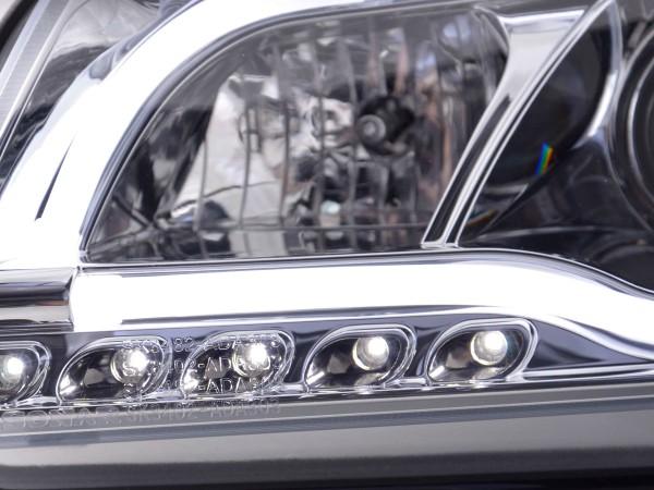 Daylight headlight Set Audi A3 type 8P/8PA Yr. 03-08 chrome