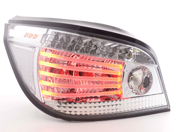 Led Taillights BMW serie 5 saloon type E60 Yr. 03- chrome