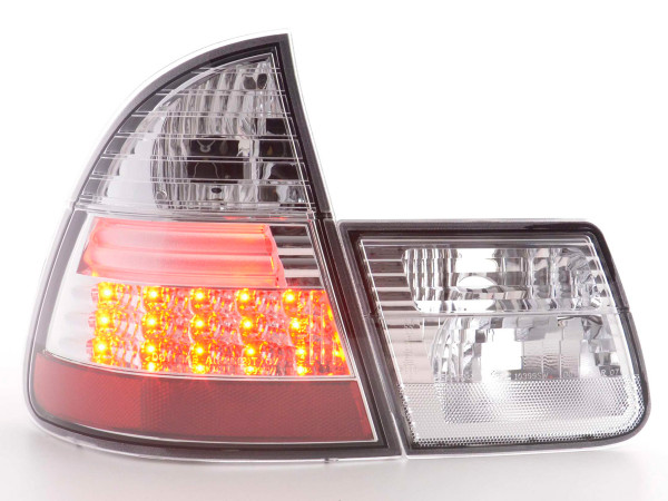 Led Taillights BMW serie 3 Touring type E46 Yr. 98-05 chrome