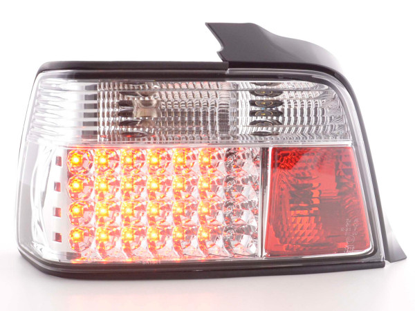 Led Taillights BMW serie 3 saloon type E36 Yr. 91-98 chrome