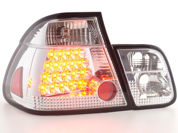 Led Taillights BMW serie 3 saloon type E46 Yr. 01-05 chrome