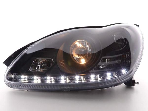 Daylight headlight Mercedes S-Classe W220 Yr. 02-05 black