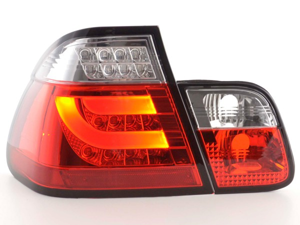 Led Taillights BMW serie 3 E46 saloon Yr. 02-05 red/clear