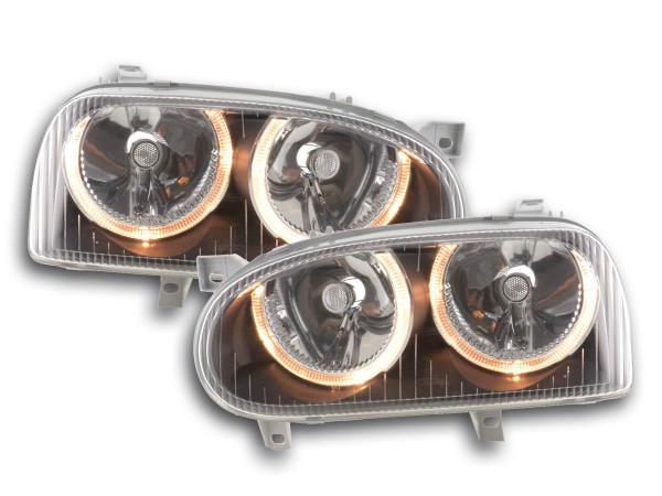 Angel Eye headlight VW Golf 3 type 1HXO, 1 EXO Yr. 91-97 black
