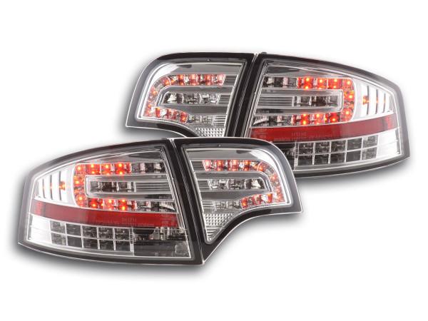 Led Taillights Audi A4 saloon type 8E Yr. 04-07 chrome