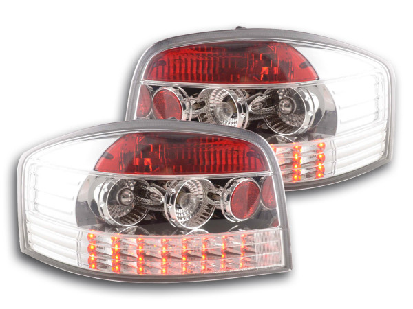 Led Taillights Audi A3 type 8P Yr. 03-05 chrome