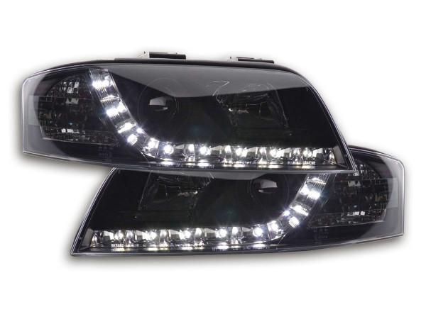Daylight headlight Audi A6 type 4B Yr. 01-04 black