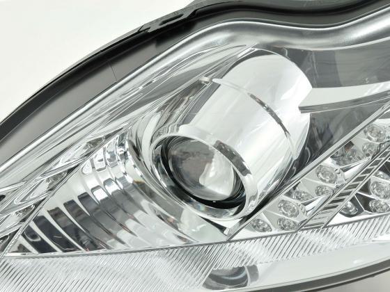 headlight Ford Focus 2 Typ C307 Yr. 08-10 chrome