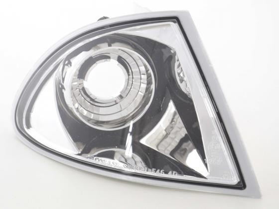 Front indicator Set BMW 3er E46 Limo/Touring Yr. 98-01, chrome