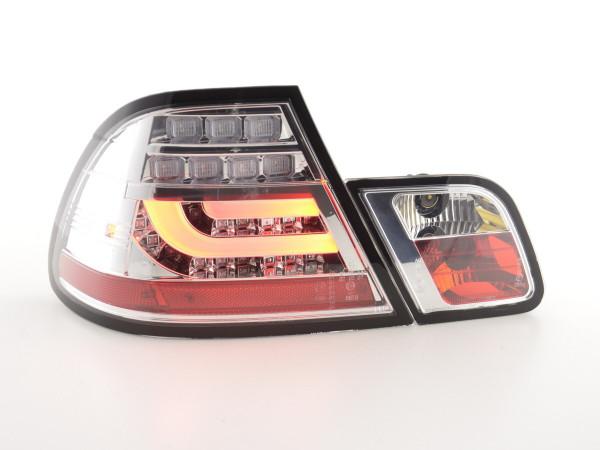 Led Taillights BMW serie 3 E46 Coupe Yr. 99-03 chrome