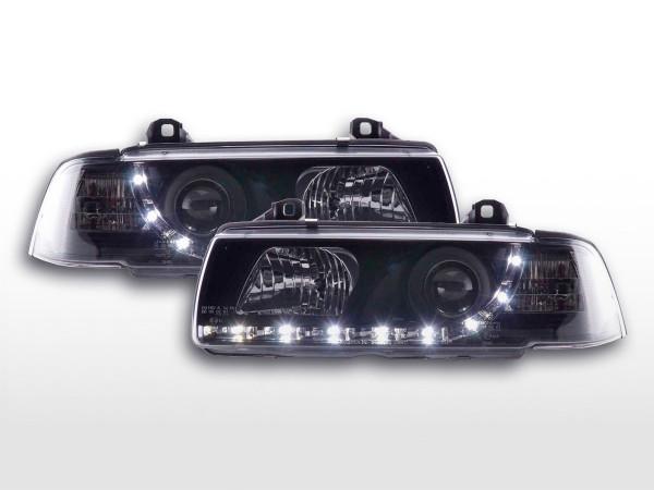 Daylight headlight BMW serie 3 Coupe type E36 Yr. 92-98 black