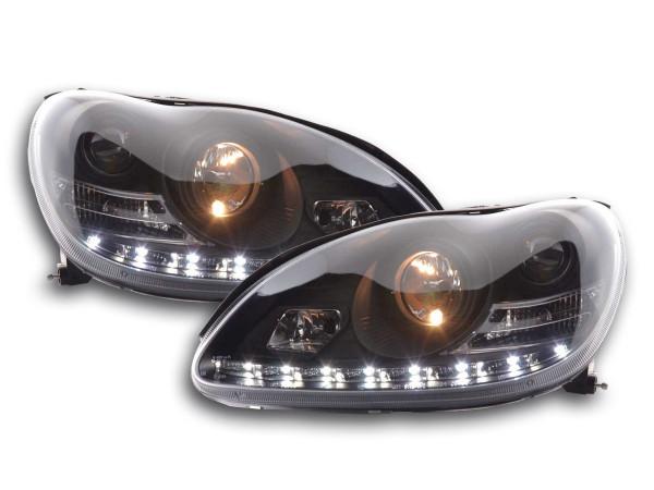 Daylight headlight Mercedes S-Classe type W220 Yr. 98-05 black