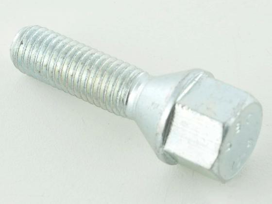 Wheel bolts Set (10 pieces), M12 x 1,25 60mm domed silver