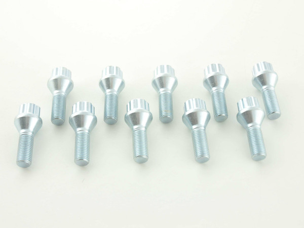 Wheel bolts Set (10 pieces), M12 x 1,5 28 domed