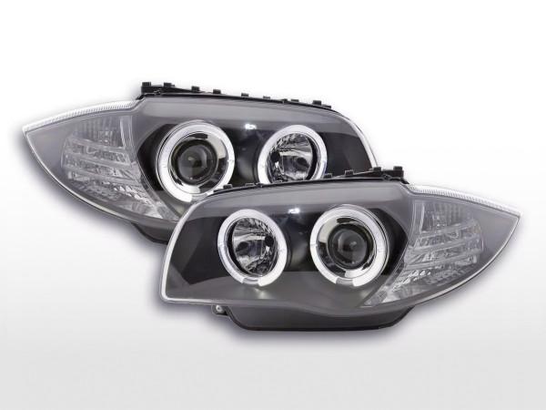 headlight BMW serie 1 type E87/E81 Yr. 04- black