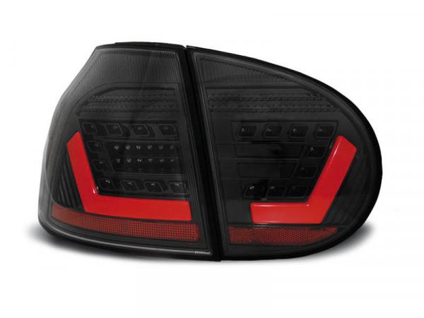 Led Bar Tail Lights Black Fits Vw Golf 5 10.03-09