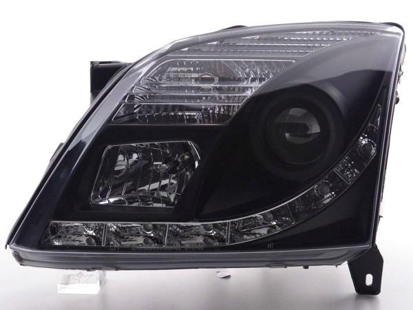 Daylight headlight Opel Vectra C Yr. 02-05 black