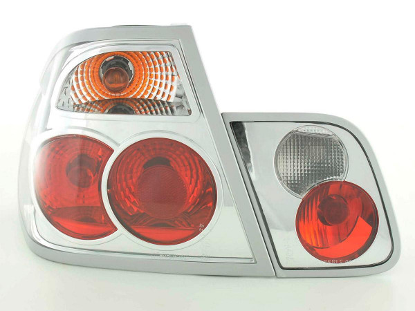 Rear lights BMW 3er Limo Typ E46 Yr. 98-01 chrome with?indicator