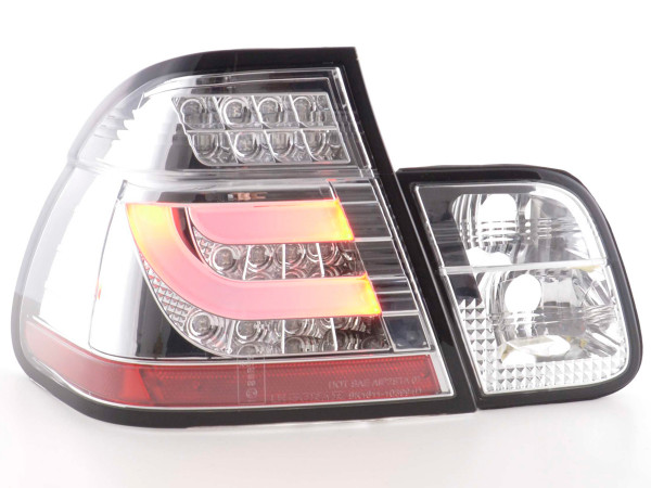 Led Taillights BMW serie 3 E46 saloon Yr. 98-01 chrome
