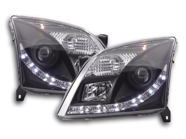 Daylight headlight Opel Vectra C Yr. 02-05 black RHD