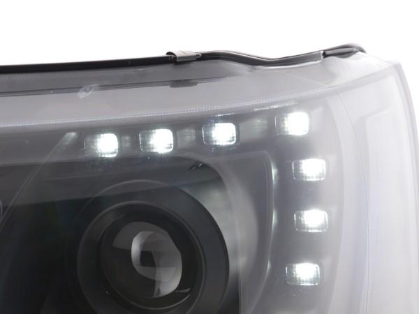 Daylight headlight with daytime running lights VW Bus T5 Yr. from 2009 black
