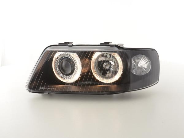 Angel Eye headlight Audi A3 type 8L Yr. 01-03 black