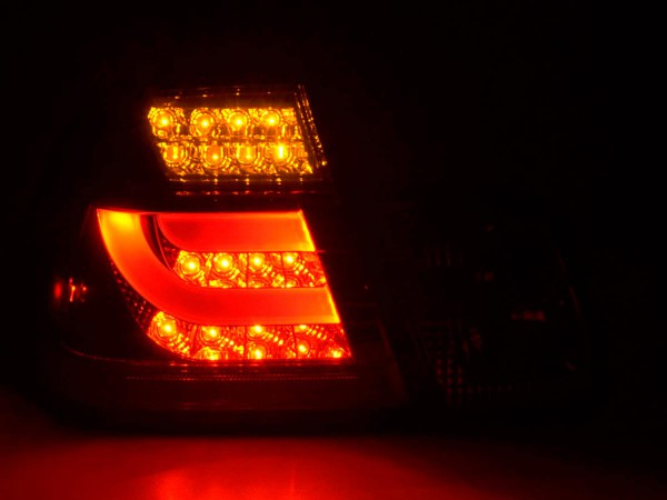 Led Taillights BMW serie 3 E46 saloon Yr. 02-05 red/black