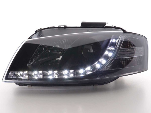 Daylight headlight Audi A3 type 8P Yr. 03-07 black