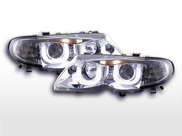 Angel Eye headlight BMW serie 3 E46 saloon/Touring Yr. 02-05 chrome