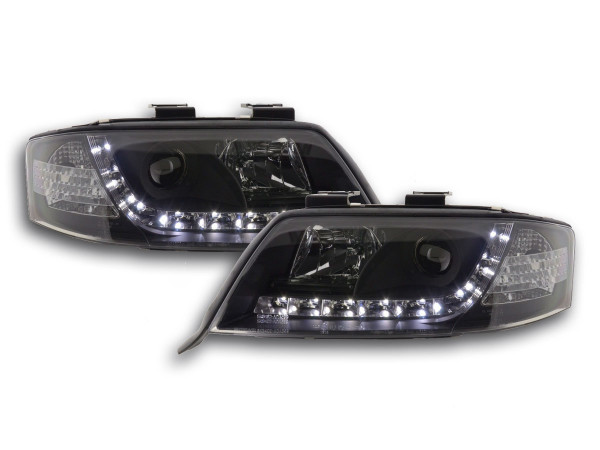 Daylight headlight Audi A6 type 4B Yr. 97-01 black
